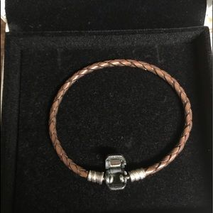 Pandora Jewelry - Pandora Braided Leather Charm Bracelet